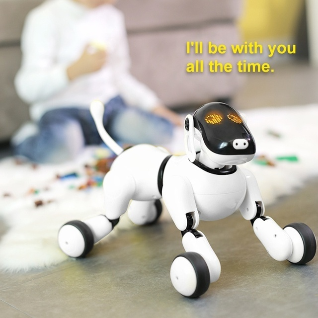 Educational Toy Smart RC Robot Dog Remote Control Dog Voice Control Intelligent Talking Electronic Pet Toy