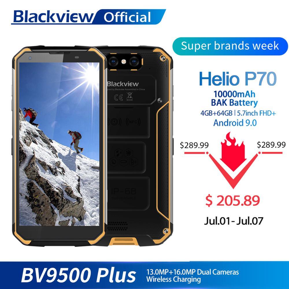 Blackview BV9500 Plus Helio P70 Octa Core Smartphone 10000mAh IP68 Wasserdichte 5,7 zoll FHD 4GB + 64GB android 9,0 handy