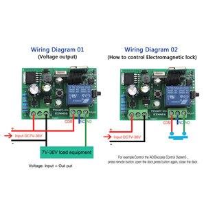 Image 4 - Commutateur intelligent de gazon dirrigation de TUYA avec Wi Fi, 1CH c. C 12V 24V 36V 10A 433 Mhz récepteur à distance de relais pour la commande vocale bricolage LED