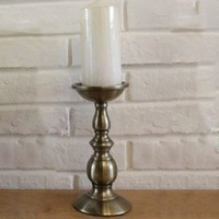 Black Gold Candlestick Wrought Iron Candle Holder Retro Metal Candlestick Lantern Home Ornaments Crafts
