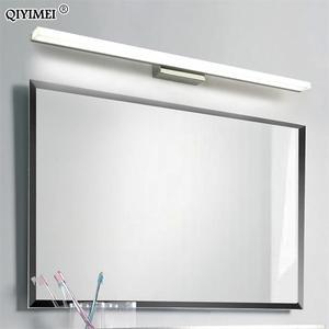 Image 1 - Led ayna hafif paslanmaz çelik AC85 265V Modern duvar lambası banyo ışıkları 40cm 60cm 80cm 100cm 120cm duvar aplikleri aplikler