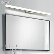 Led spiegel licht edelstahl AC85 265V Moderne Wand lampe bad lichter 40cm 60cm 80cm 100cm 120cm wandleuchter apliques