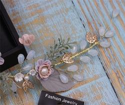 Krasivaya Hairbands Crown Pearl Wedding Hair Accessories Jewelry