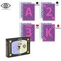 Cartões marcados para lentes de contato, copag vermelho e azul terno, infravermelho plástico marcado perspectiva magia anti fraude poker