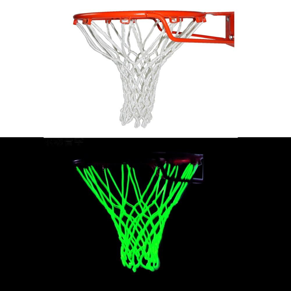 Light Up Basketball Net Heavy Duty Basketball Trainning Glowing Light Luminous Basketball Net Net Replacement Outdoor