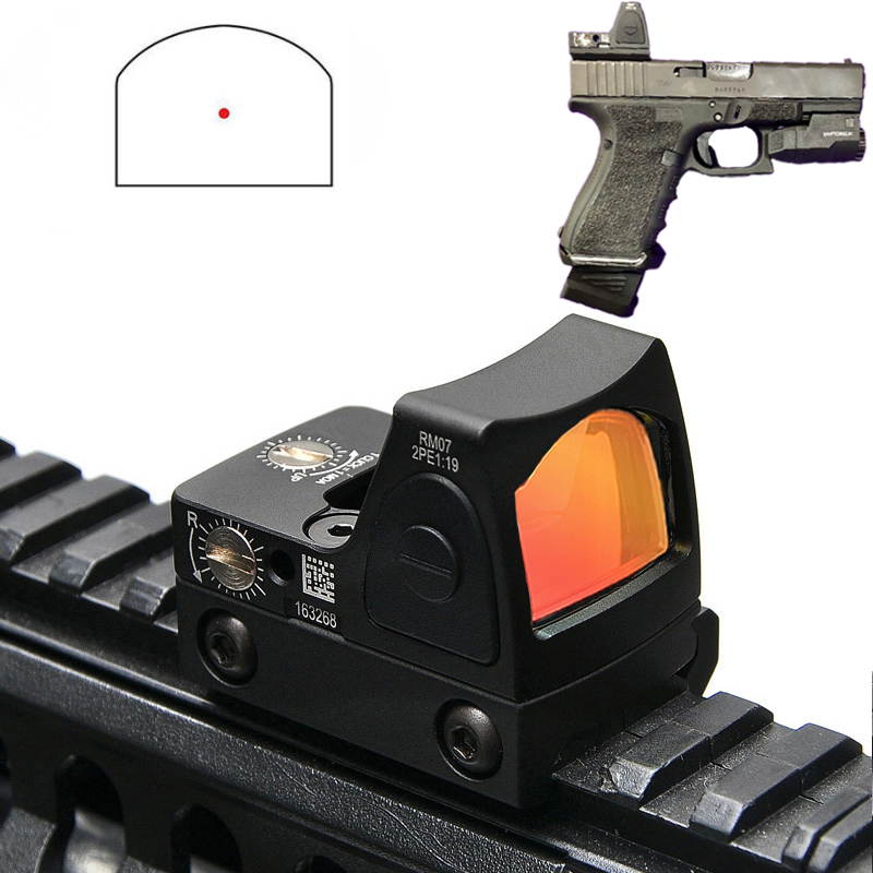 Tactical RMR Mini Red Dot Pistol Rifle Reflex Optic Sight Fit 20mm Rail For Glock 17 19 Airsoft Hunting Scope Collimator Sight