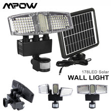 Mpow 178 LED שמש קיר אור 3 ראשי Waterproof שמש Motion חיישן אור סופר מואר גן אבטחה חיצוני LED מבול אור
