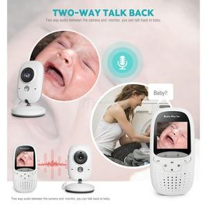 Image 4 - אלחוטי 2.0 אינץ וידאו צבע תינוק צג אבטחת מצלמה תינוק נני אינטרקום ראיית לילה טמפרטורת ניטור VB602