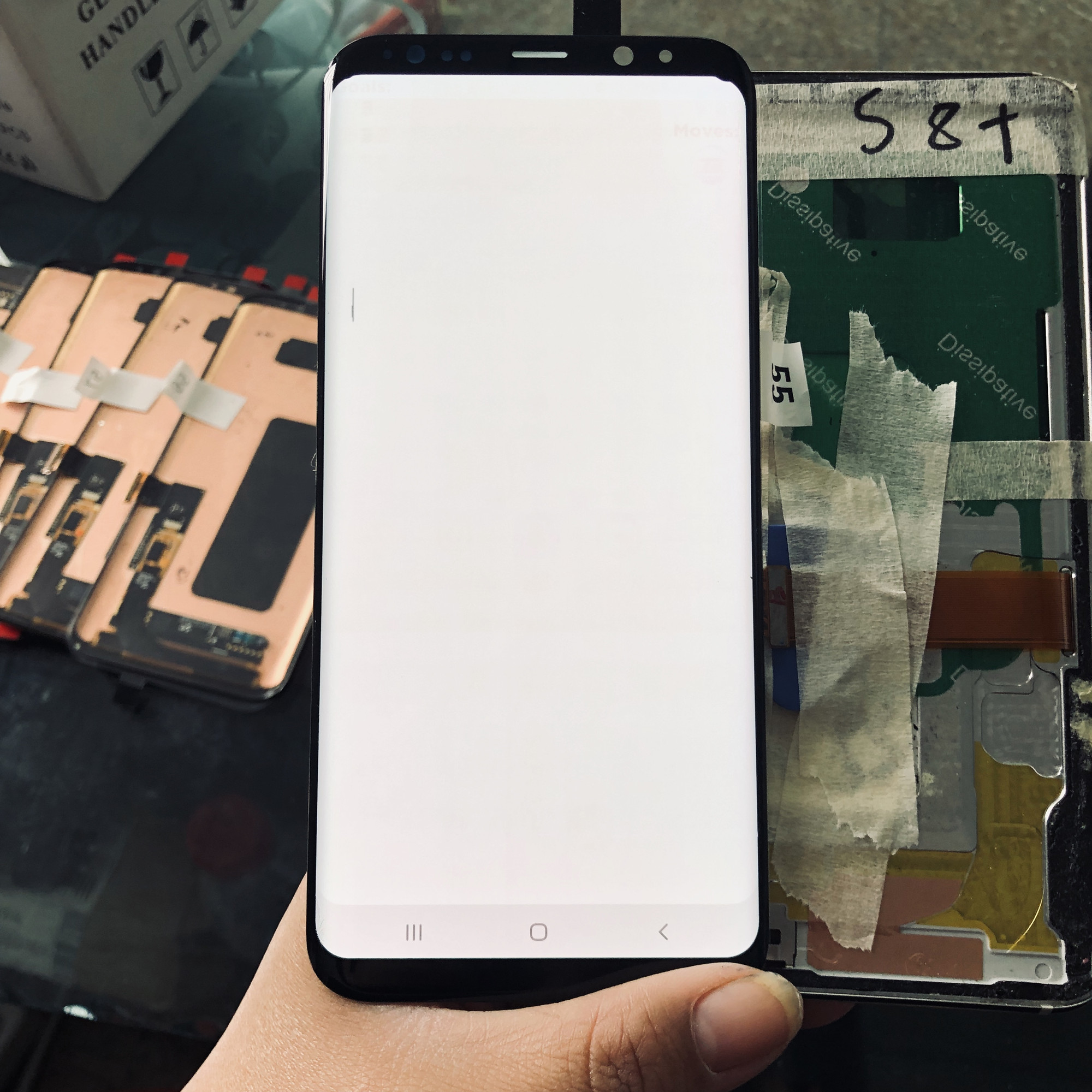 For Samsung Galaxy S8 Plus LCD G955 SM-G955F LCD Display+Touch Screen Digitizer With Small Spot+burnshadow Super Amoled Assembly