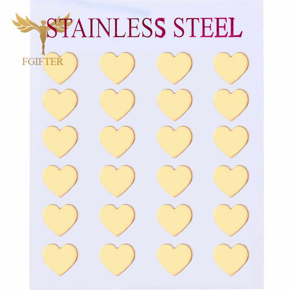 Clássico amor coração brincos de ouro brincos de aço inoxidável remantic moda feminina 2019 mulher jóias accesoires brincos femininos