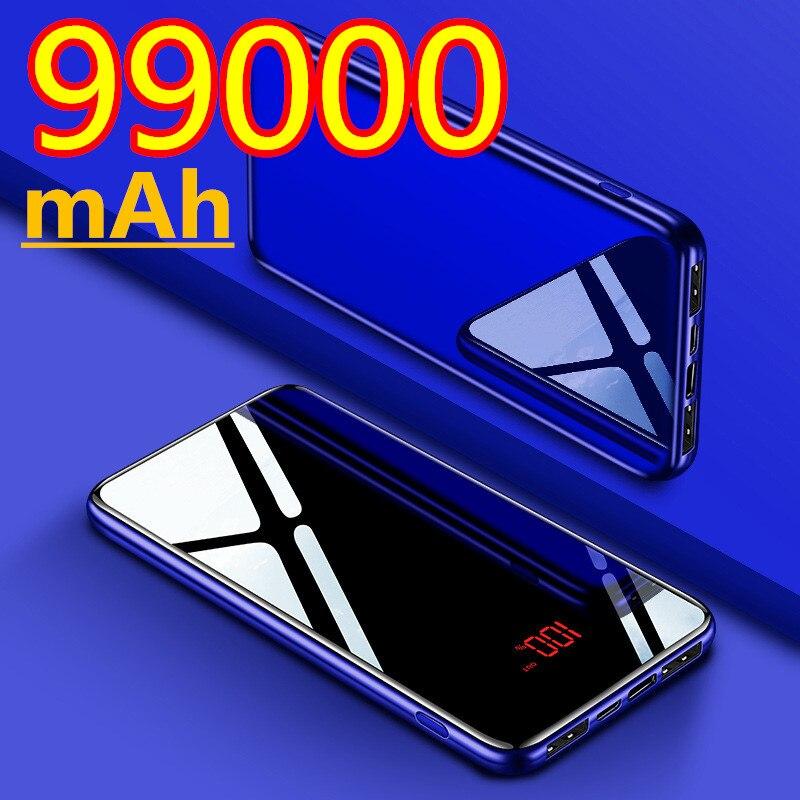 Быстрое зарядное устройство портативное зарядное устройство 99000 мА портативное зарядное устройство PD 99000 Ма внешняя Мобильная батарея для ...
