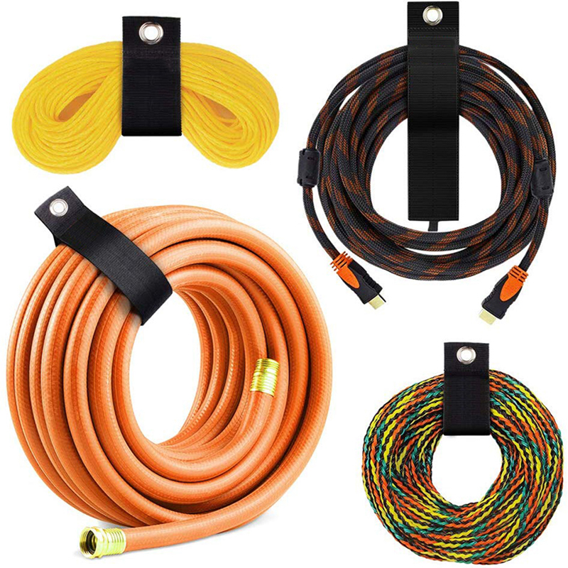6PCS Extension Cord Holder Organizer Heavy Duty Storage Straps Fit With Garage Hook Pool Hose Hangers Strongly Viscous Gadget(China)