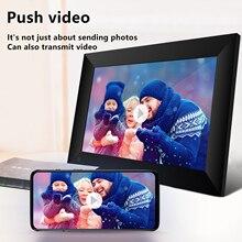 "P100 WiFi דיגיטלי תמונה מסגרת 10.1 ""16GB חכם אלקטרוניקה תמונה מסגרת APP בקרת לשלוח תמונות 800x1280 IPS LCD מסך מגע"