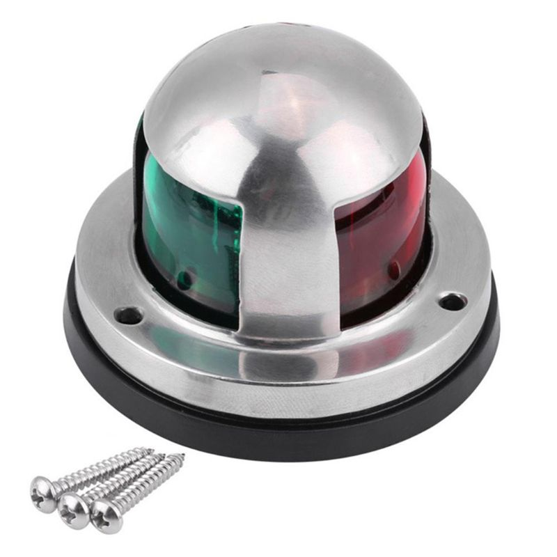 12V Stainless Steel Red&Green LED Navigation Signal Light Lamp Yacht Accessory For Marine Boat 225 Degrees IP65