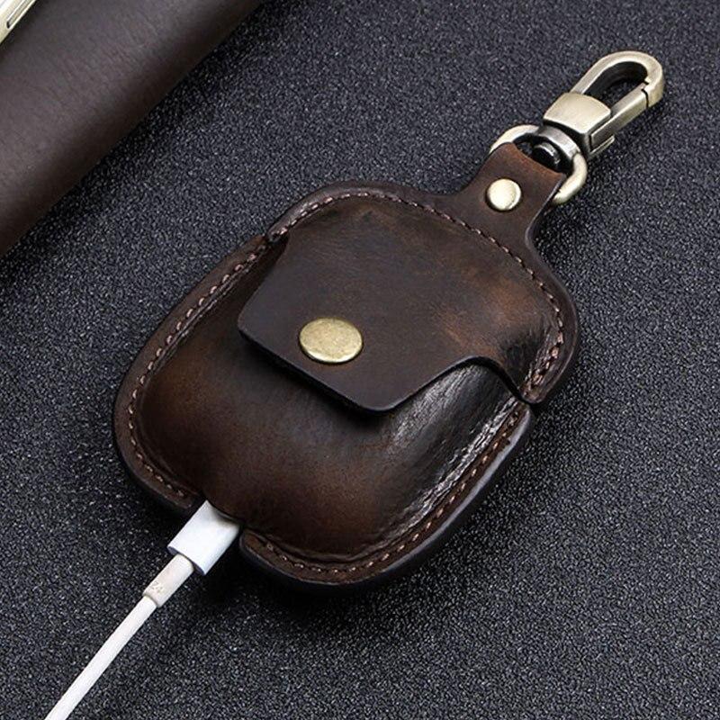 Купить кожаные чехлы для airpods 1 2 защитный чехол bluetooth гарнитуры
