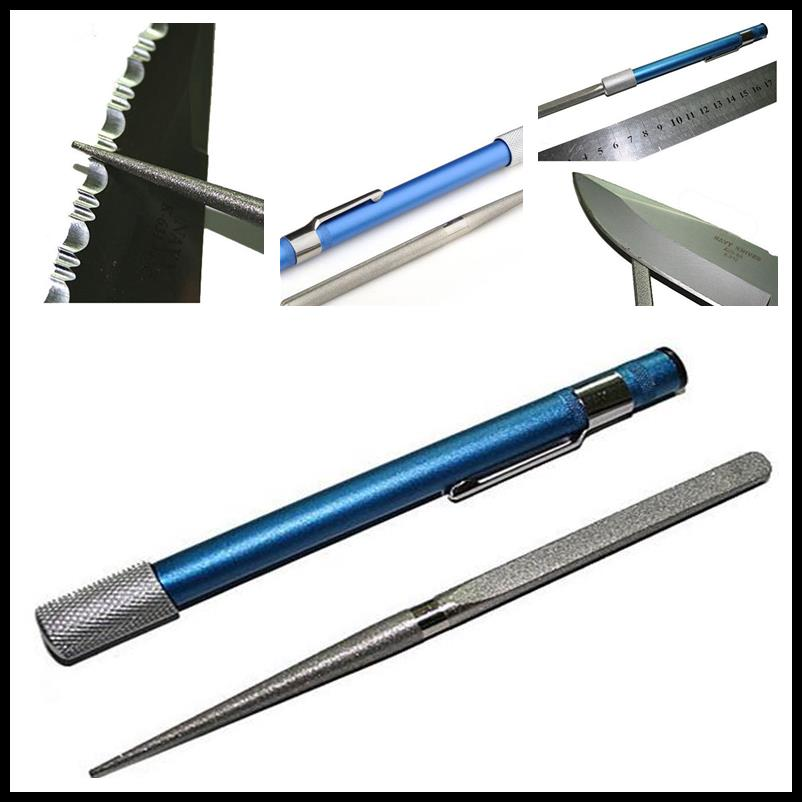 1pc Portable Professional Pen Multi Purpose Chisel Grindstone Fishing