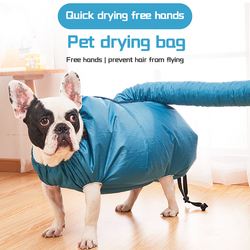 Lazy Portable Pet Drying Bag Folding Dog Hair Dryer Blow Bag Grooming Bag Clothes for large dogs Cat Bathing Drying Artifact SML