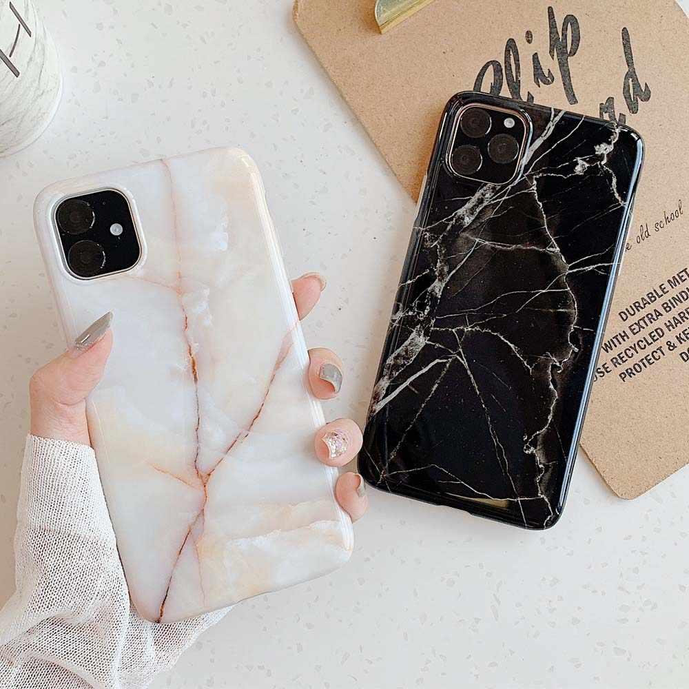 Cao Cấp Đá Cẩm Thạch Silicone Ốp Lưng Điện Thoại Iphone 11 Pro XS Max X XR 7 8 6 6S 6S Plus Ốp Lưng Mềm Mại ốp Lưng TPU Cho iPhone 8 7 Plus Funda