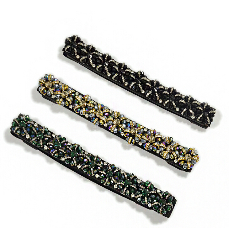 Women's Runway Fashion Diamonds Beaded Elastic Cummerbunds Female Dress Corsets Waistband Belts Decoration Wide Belt R2005