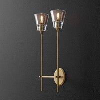 Moderno ouro bronze lâmpada de parede para luzes de parede interior lustre luminária led applique luzes de parede para casa luminária
