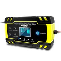 Fully automatic car battery charger 12V 8A 24V 4A smart quick charge for AGM GEL wet lead acid LCD display battery charger