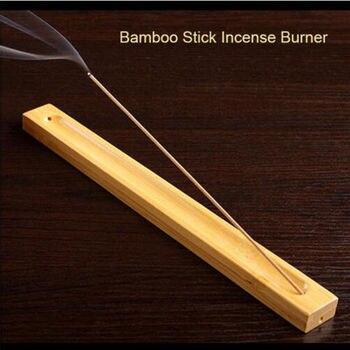 Useful Bamboo Material Stick Plate Incense Holder Fragrant Ware Burner bamboo line incense burner