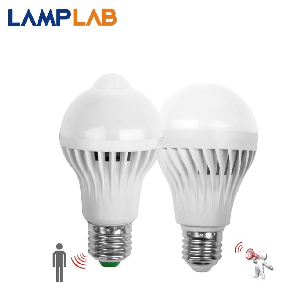 Led Bulb Motion Sensor Home Decor Smart PIR Lamp E14 E27 Auto Sound Light 3W 5W 7W 9W 12W 110V 220V Radar Infrared Body Lamp