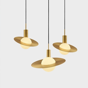 Northern Europe Originality Star Ring Glass A Chandelier Post Modern Concise A Living Room Bedroom Bedside Study Bar Platform