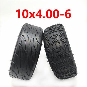 Mejora 10X4.00-6 10*4,00-6 neumático de vacío sin cámara para Harley Scooter Eléctrico Citycoco Go Karts ATV Quad Bike todoterreno