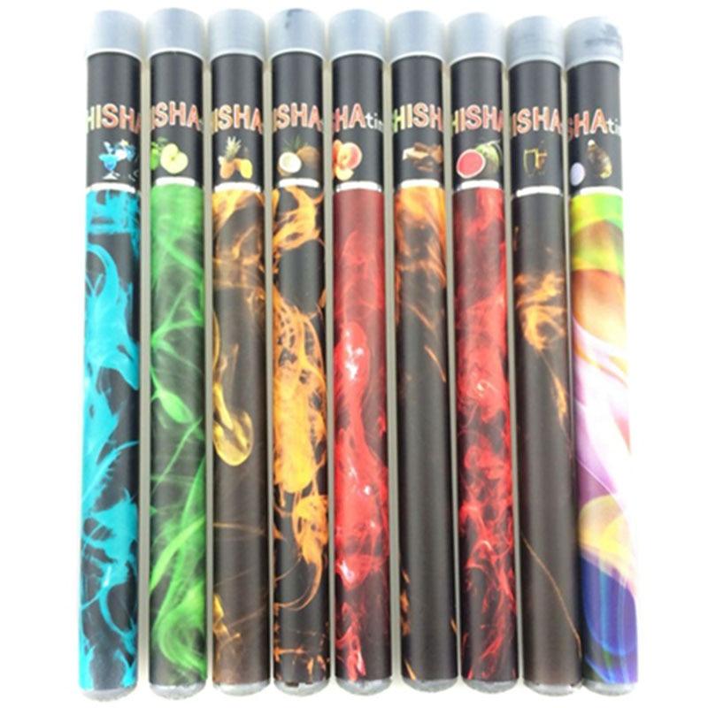 50pcs/lot ShiSha Hookah Pen Electronic Cigarette Pipe Pen Cigar Fruit Juice E Cigs Stick Shisha Time Colorful 30 Flavors
