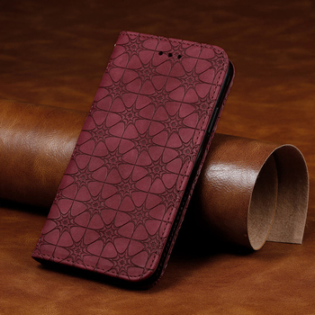 Luxury Embossing Flower Flip Silicone Case For Google Pixel 4A 5G 4G Retro Card Magnetic Leather Cover for Pixel 5 Stand Cases