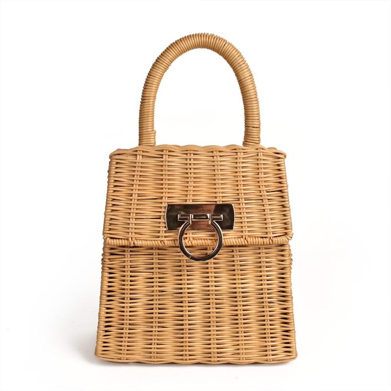 New Straw Rattan Beach Bag Designer Bags Famous Brand Women Bags 2020 Women Handbags Chloe Bag