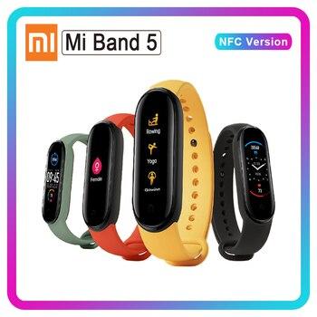 Xiaomi Mi bande 5 NFC bande 4 Bluetooth 5.0 étanche Miband5 Bracelet intelligent 4 AMOLED écran fréquence cardiaque Fitness Tracker Mi bande