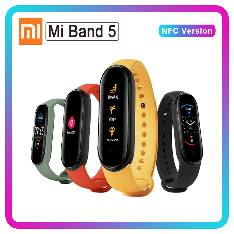 Xiaomi Mi Band 5 NFC Band 4 Bluetooth 5 0 Waterproof Miband5 Smart Bracelet 4 AMOLED Screen Heart Rate Fitness Tracker Mi Band