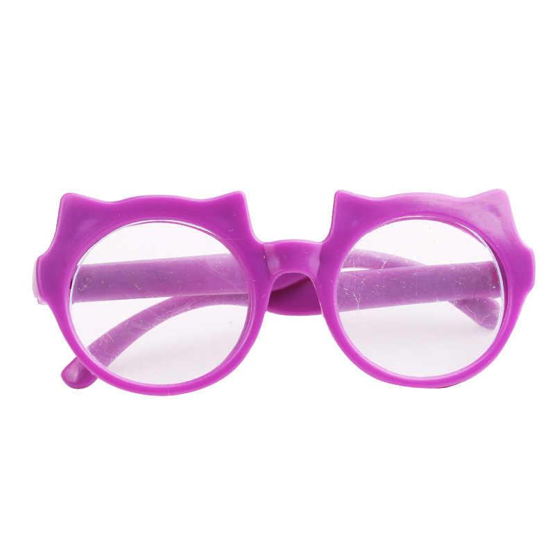 موضة البلاستيك الأمريكية دمية كول نظارات الصلبة نظارات شمسية ملونة ل BJD Blyth 18 بوصة دمية لعبة صور الدعائم إكسسوارات دمي