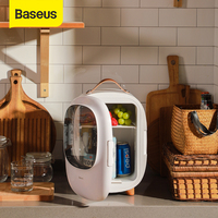 Baseus 8L Portable Car Refrigerator Mini Fridge Freezer Heating Fridge Compressor with AC/DC Power Cord for Car & Home & Camping