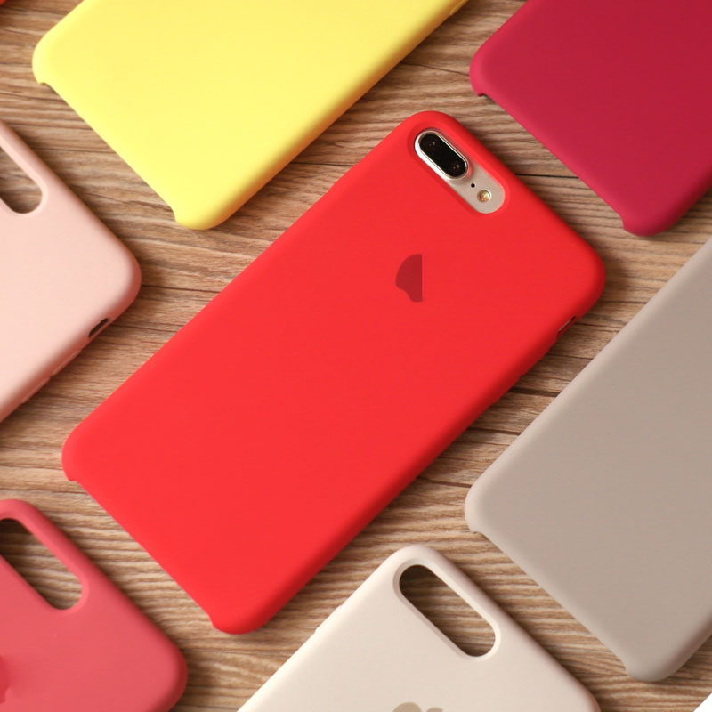 Luxury Original Official Silicone LOGO Case For IPhone 7 8 Plus Cases For Apple IPhone