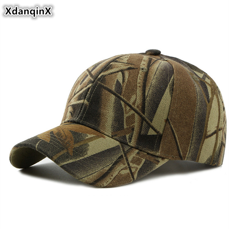 XdanqinX Unisex Camouflage Hat Fashion Cotton Baseball Cap Womens Ponytail Tongue Caps Snapback Adjustable Mens Sports