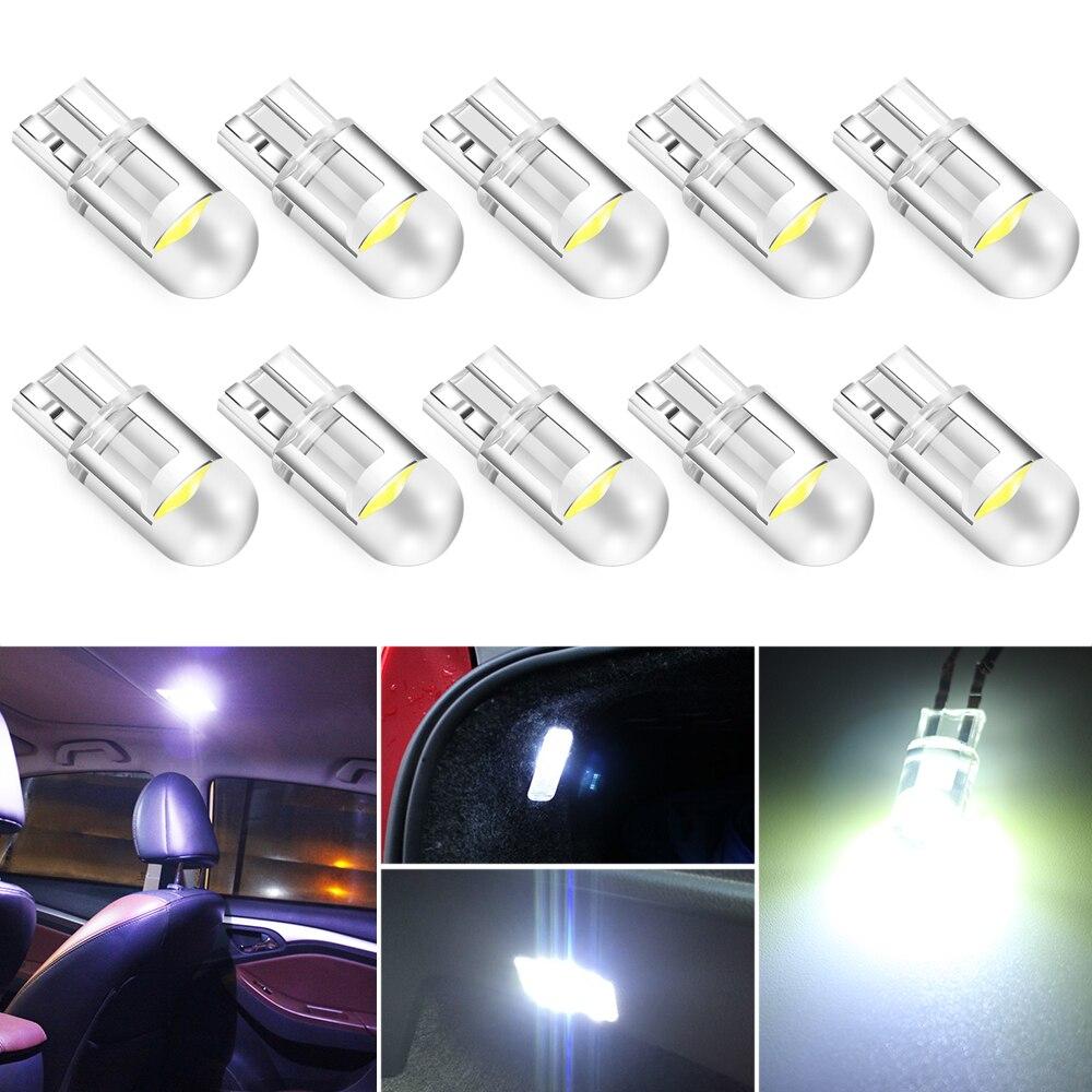 10 шт., Автомобильные светодиодные лампы T10 W5W COB для MAZDA 2 3 M3 M5 M6