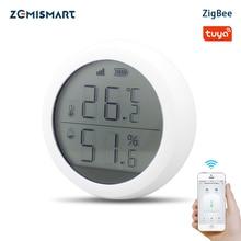 Tuya zigbee sensor de temperatura e umidade, com tela lcd