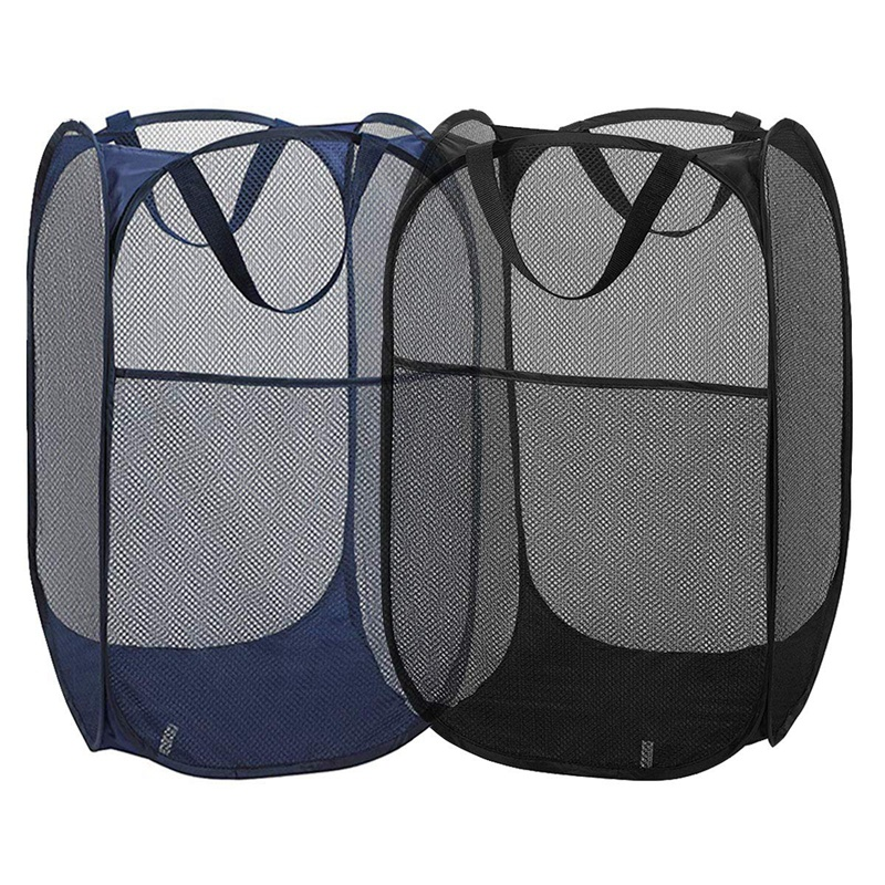 2Pcs Mesh Pop-Up Laundry Basket For Easy Storage And Folding Pop-Up Clothes Basket