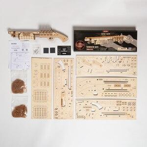 Image 5 - Robotime Gun Blocks, модель Buliding Kit, игрушки, подарок для детей, Детский день рождения, день рождения мальчика, подарок