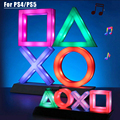 For PS4/PS5 Game Icon Lamp Sign Sound Control Decorative Lamp Colorful Lights Lampstand LED Light Game Nice Gift For Christmas