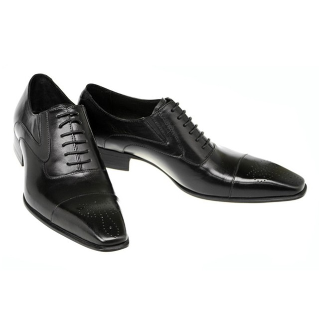 Formal Leather Long Toe Dress Shoes 10
