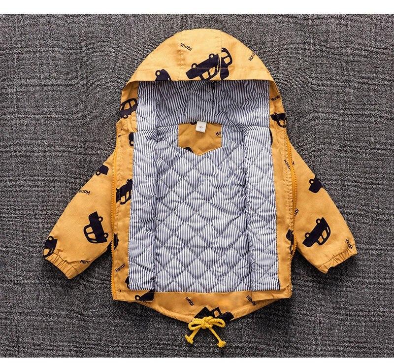CROAL CHERIE Warm Winter  Jacket Coat Baby Boys Parka Cute Car Kids Jacket Hood Winter Children Jacket Fall Toddler Outerwear  (9)
