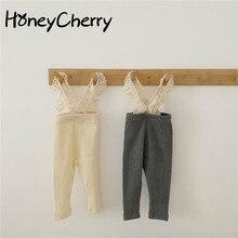 Lace Simple Sunken Stripe Overall Baby Leggings baby leggings baby girls pants