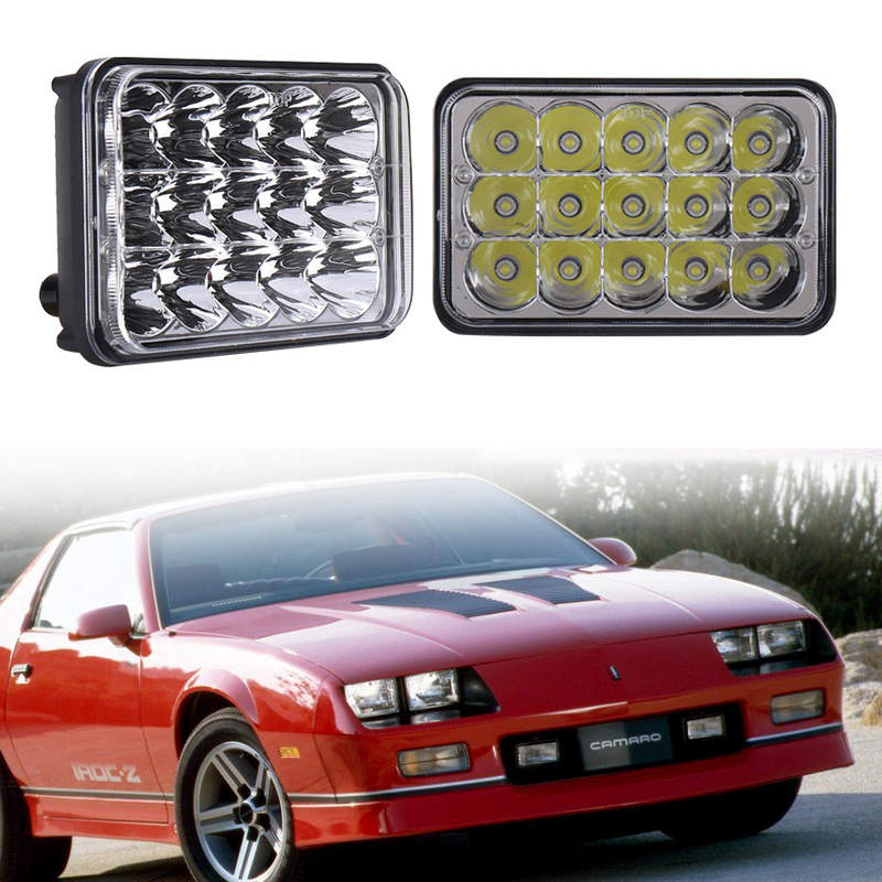 The Vectra 5 Inch Led Car Maintenance Work Lamp Lights Led Square Lights 4 X6 Inches Of 45 W Jeep Wrangler Headlight