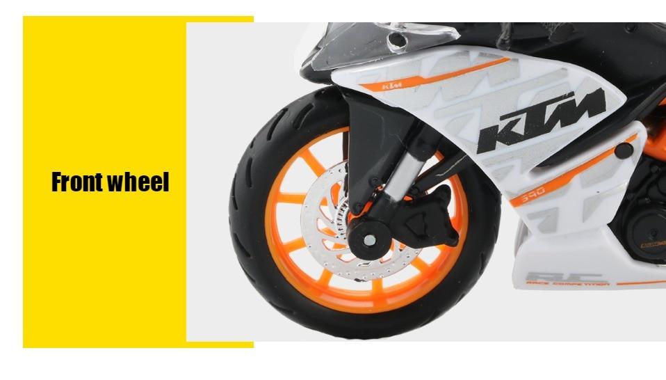 Toy KTM RC 390 Motorbike 11x3x6 cm 45