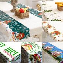 110*180 см экологически чистый одноразовый ПВХ рождественские украшения вечерние Свадебная скатерть установить обращенной столовая посуда