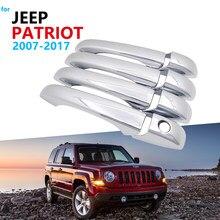 Роскошный набор хромированной обшивки ручки для JEEP свобода патриота, Россия 2007 ~ 2017 аксессуары Автомобильные наклейки 2010 2014 2015 2016